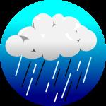 ゲリラ豪雨背景のイラスト1