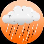 ゲリラ豪雨背景のイラスト2