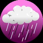 ゲリラ豪雨背景のイラスト3