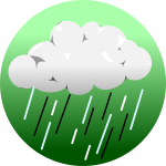 ゲリラ豪雨背景のイラスト4