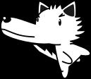 オオカミのイラスト2