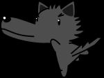 オオカミのイラスト3