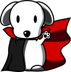 犬ヴァンパイアのイラスト2