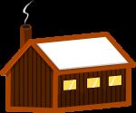山小屋のイラスト1