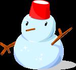 雪だるまのイラスト5