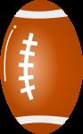 ラグビーボールのイラスト1