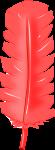 羽根装飾のイラスト1