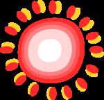 太陽装飾のイラスト1