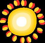 太陽装飾のイラスト2