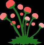 道端の花のイラスト1
