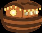 屋台船のイラスト1