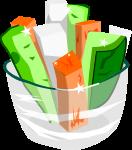 野菜スティックのイラスト1