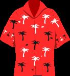 アロハシャツのイラスト1