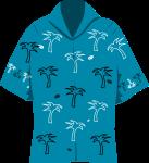 アロハシャツのイラスト2