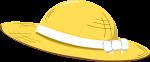 麦わら帽子のイラスト1