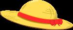 麦わら帽子のイラスト2