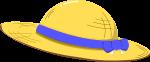 麦わら帽子のイラスト3