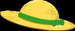 麦わら帽子のイラスト4