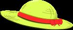 麦わら帽子のイラスト6