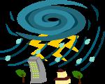 台風のイラスト2