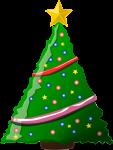クリスマスツリーのイラスト7