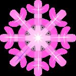 雪 結晶のイラスト9
