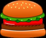 ハンバーガーのイラスト1