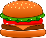 ハンバーガーのイラスト2
