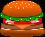ハンバーガーのイラスト4