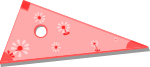 三角定規のイラスト1
