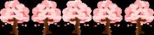 桜ラインのイラスト4