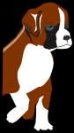 ボクサー犬のイラスト2