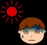 熱中症注意のイラスト1