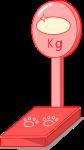 体重計のイラスト2