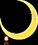 月とおさるのイラスト1