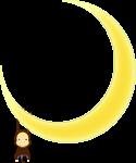 月とおさるのイラスト2