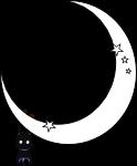 月とおさるのイラスト3