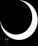 月とおさるのイラスト4